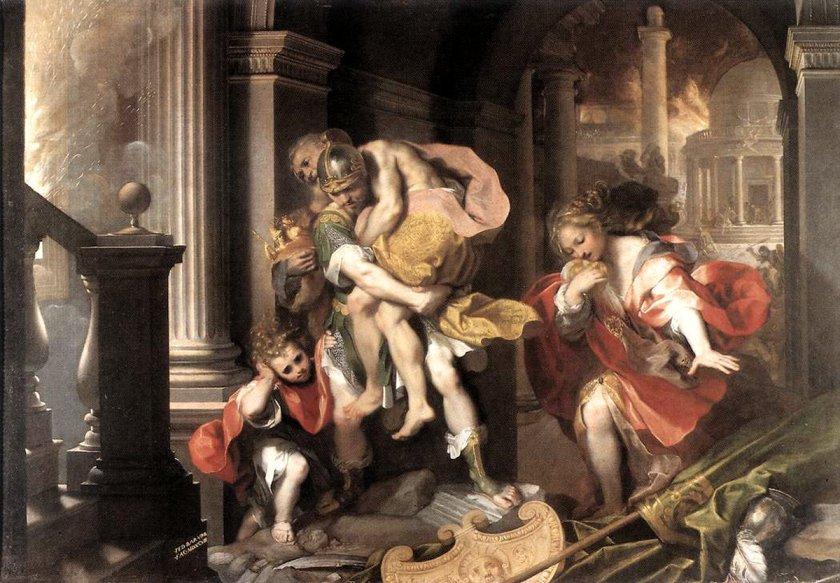 Federico Barocci Eneas huyendo de Troya 1595