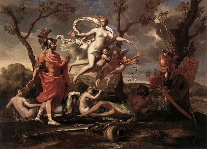 Venus-Presenting-Arms-to-Aeneas-Poussin