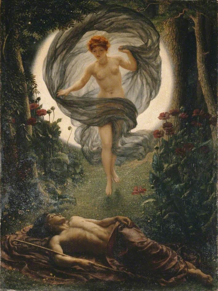 Edward John Poynter (1836-1919). La visión de Endimión (1902). Manchester Art Gallery