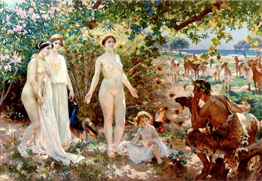 Enrique Simonet. El Juicio de Paris (1904). Museo de Bellas Artes de Málaga