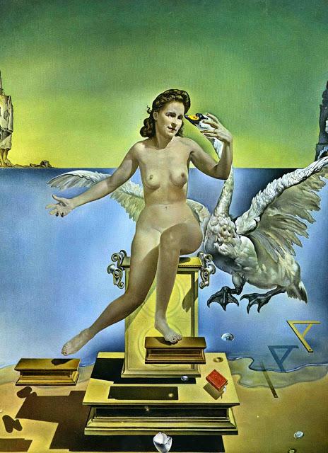 Salvador Dalí (1904-1989). Leda atómica (1949) Óleo sobre lienzo. 61 x 46 cm. Theatre-Museu Dalí. Figueras