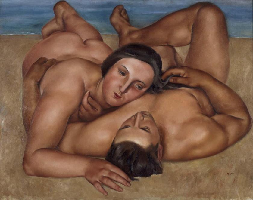 Josep de Togores (1893-1970). Couple à la plage (1922). Óleo sobre lienzo. 89,5 x 116 cm. Museo Nacional Centro de Arte Reina Sofía. Madrid