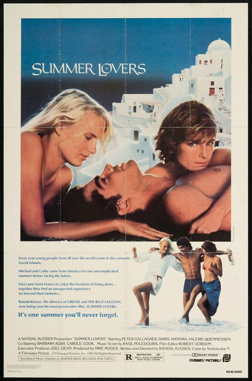 """Cartel anunciador de la película """"Summer Lovers"""" (1982)"""