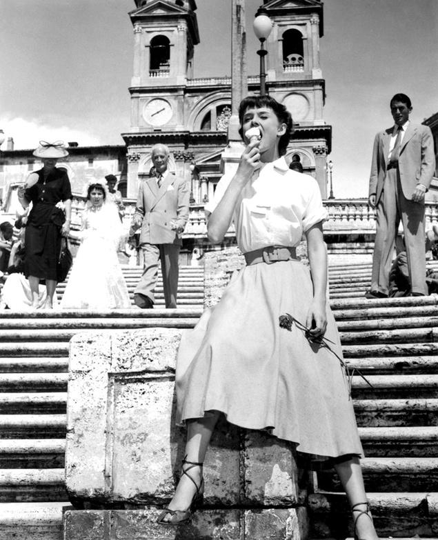 """Audrey Hepburn en """"Vacaciones en Roma"""" (1953)"""