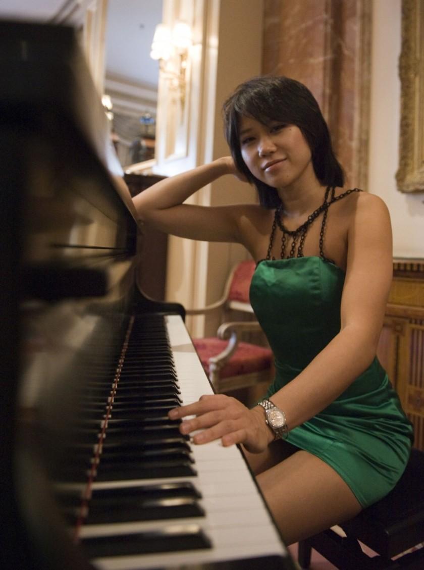 Yuja Wang ante el piano